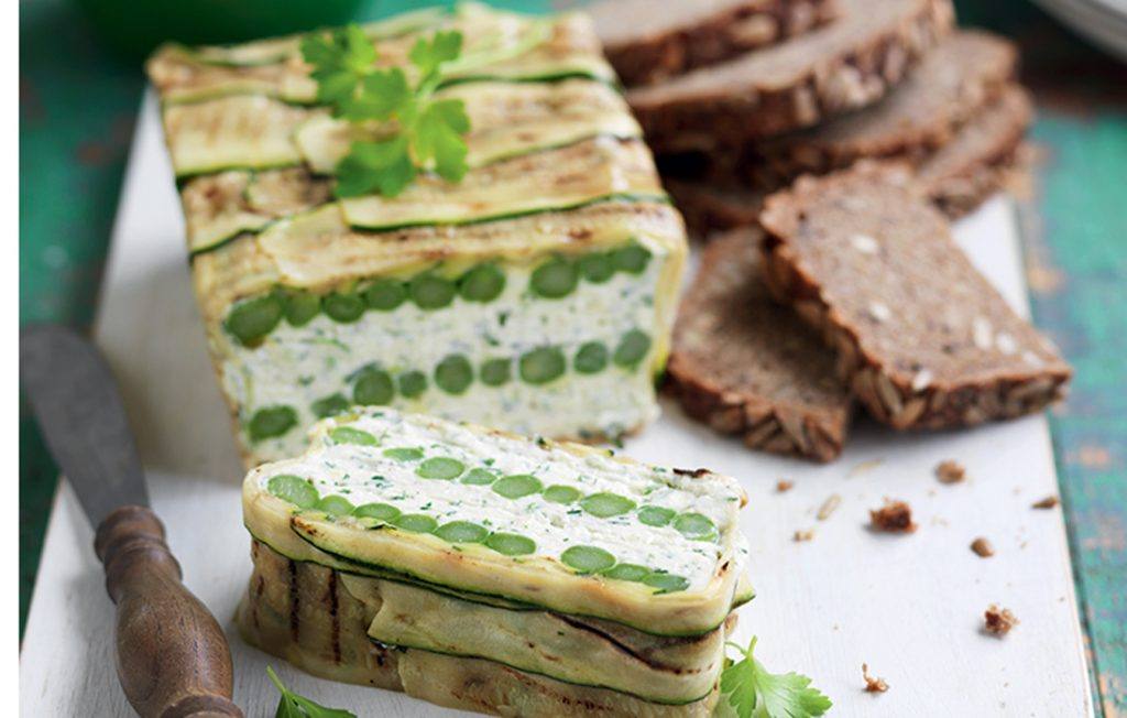 Courgette and asparagus terrine