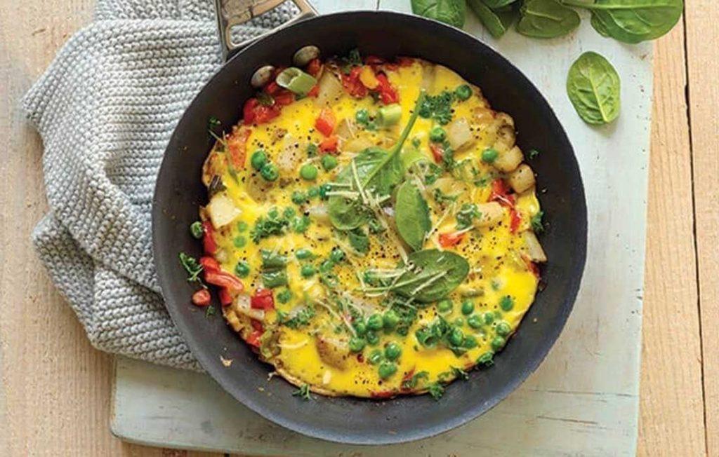 Green Spanish omelette