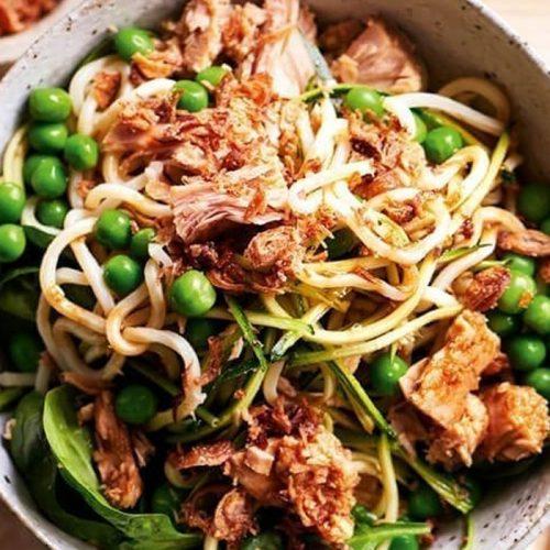Tuna and chilli noodles