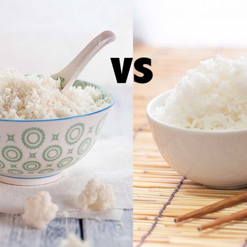 Which is healthier: cauliflower rice or white rice?