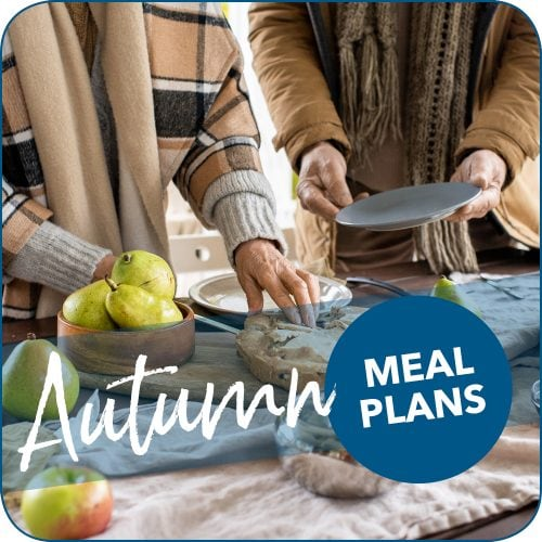 Autumn/fall weeknight meal plans