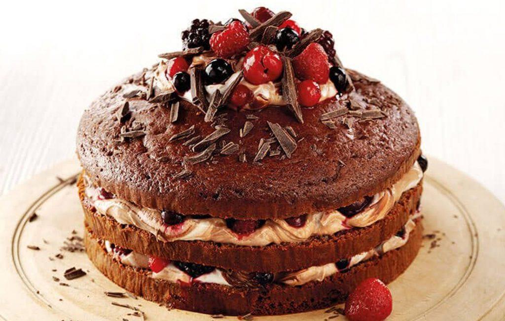Chocolate gateau made healthier