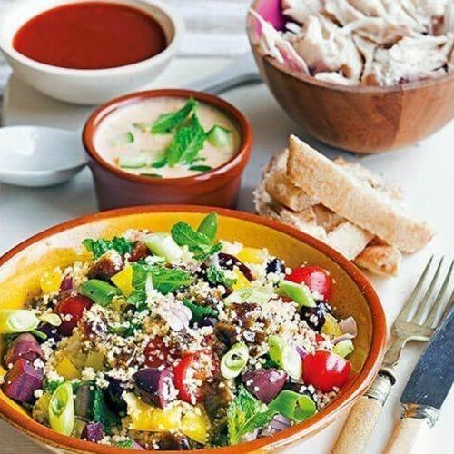 Greek-style meze salad