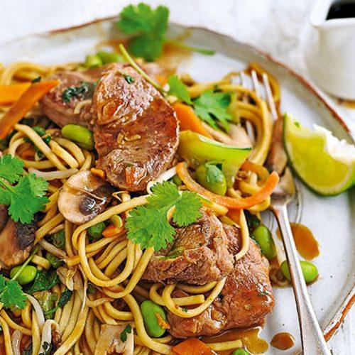 Pork and hoisin stir-fry