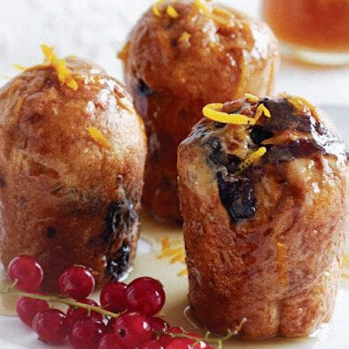 Prune and Armagnac babas