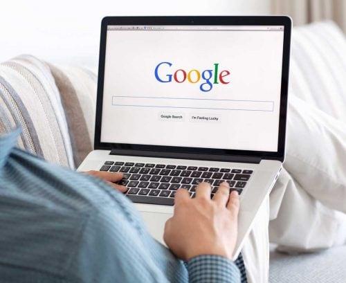 Man using Google