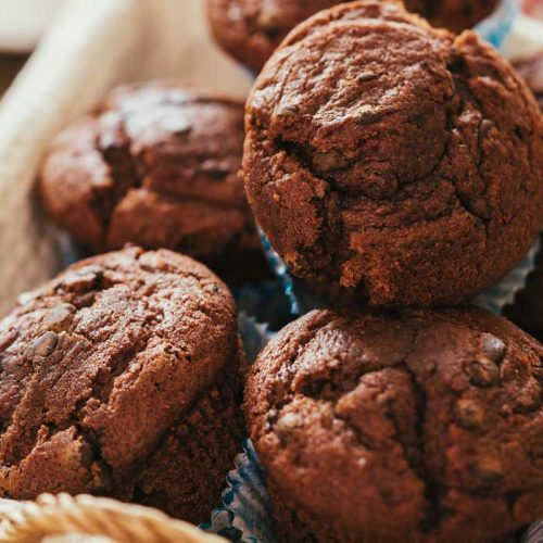 Chocolate and beetroot muffins