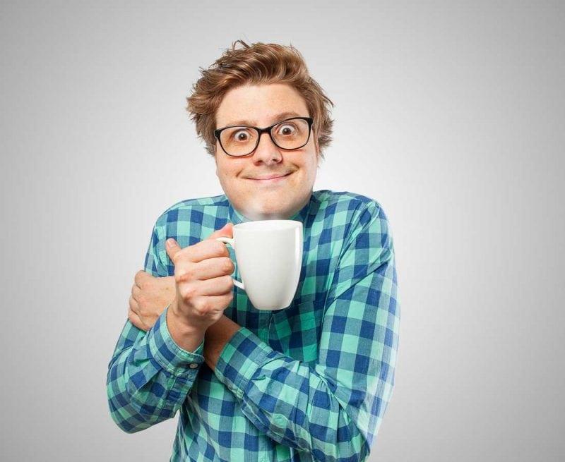 Man wired on caffeine