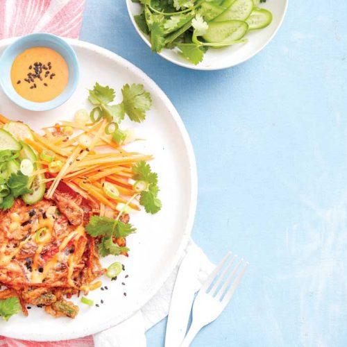 Okonomiyaki – Japanese-style savoury pancakes