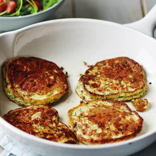 Cheesy ricotta and herb pancakes