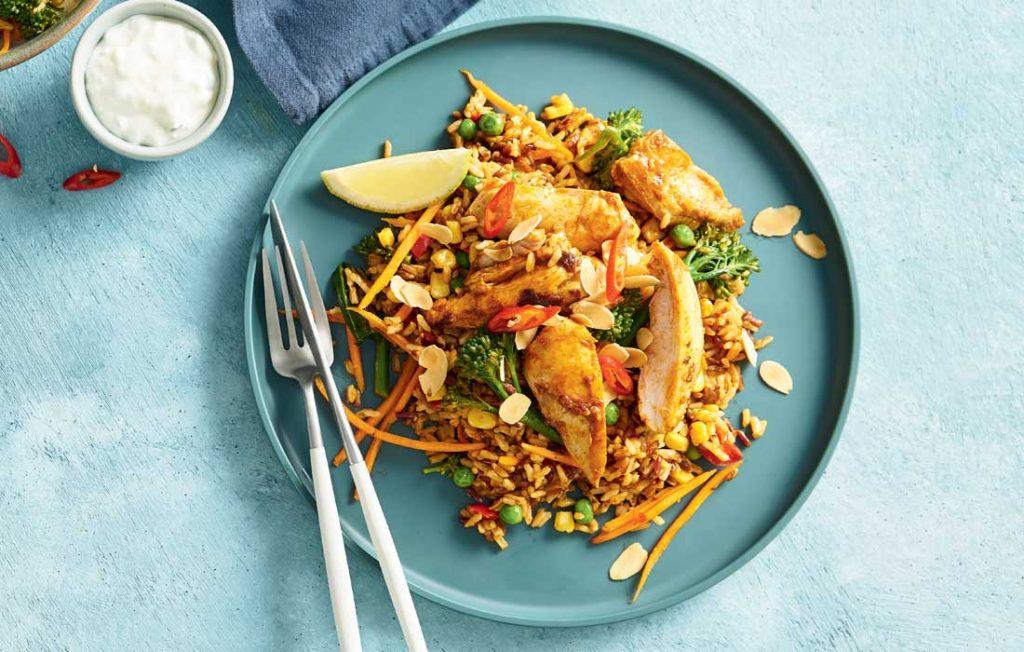 Tandoori-chicken-rice-medley