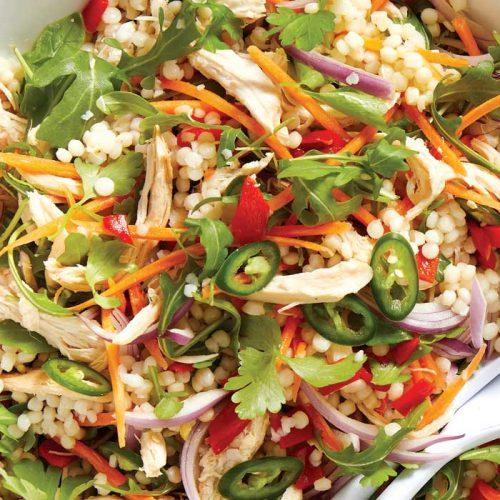 Chicken and pistachio couscous salad
