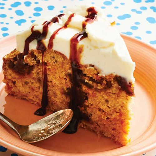 Carrot and date cake with ricotta icing