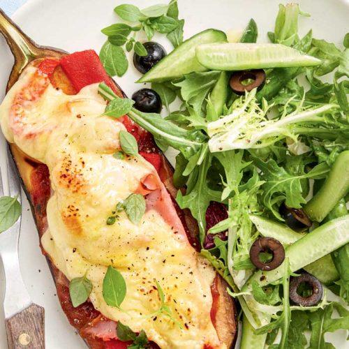 Eggplant parmigiana made healthier