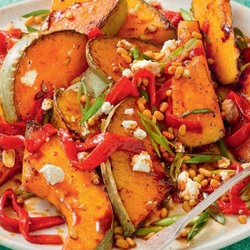 Roast pumpkin and feta salad