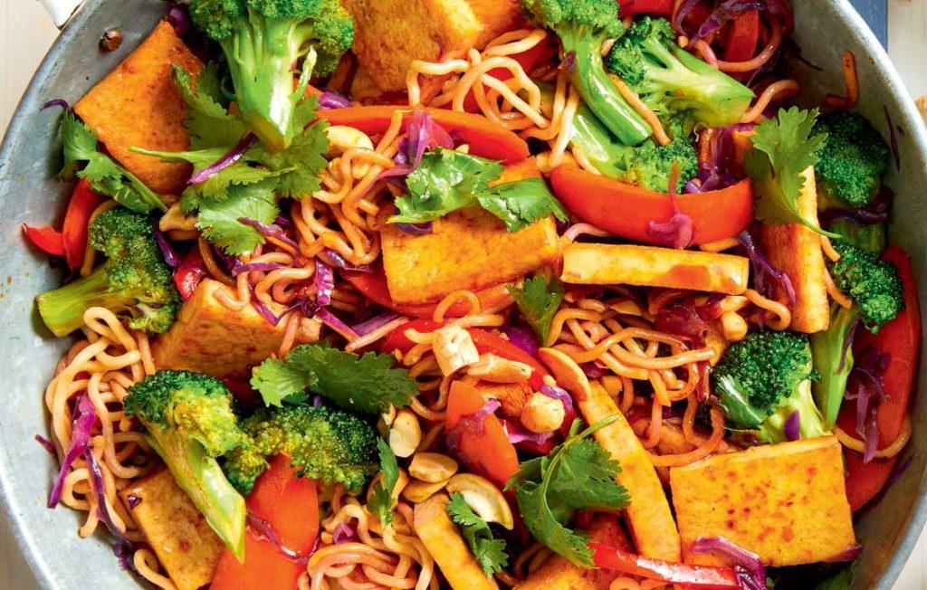Teriyaki tofu and broccoli stir-fry