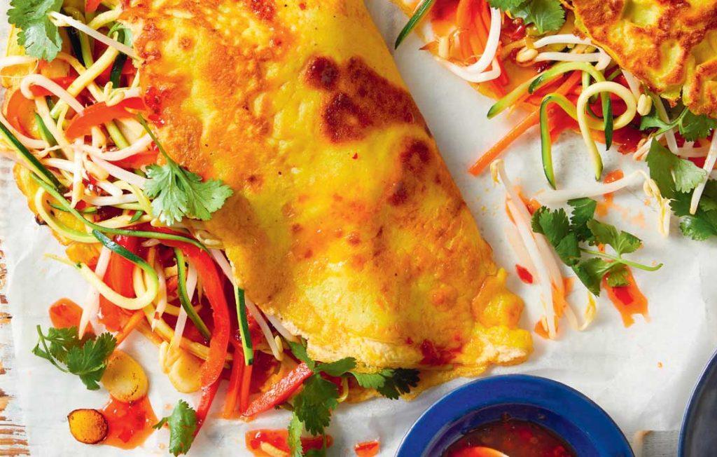 Vietnamese-style dinner crepes