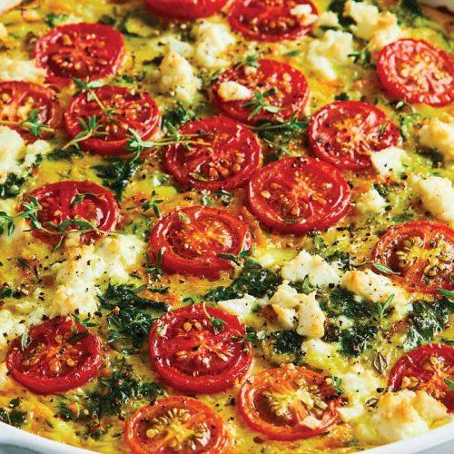 Quinoa and feta impossible pie