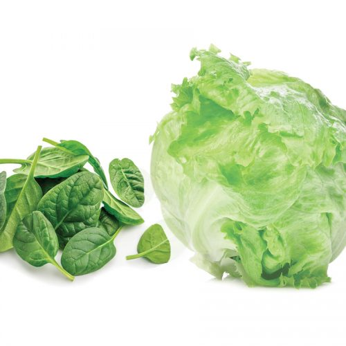 Which is healthier: baby spinach or iceberg lettuce?