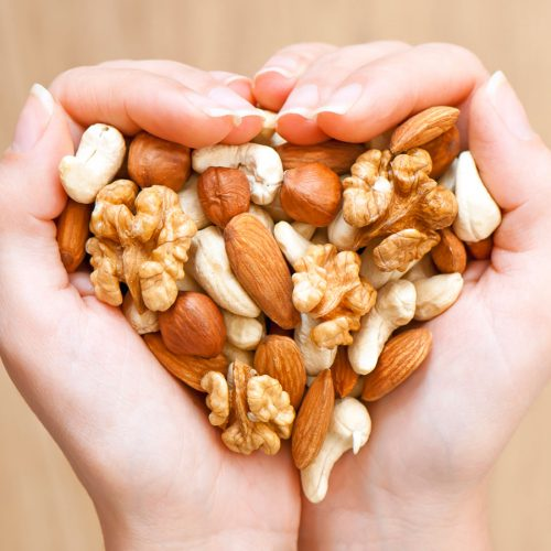 Two handfuls of nuts
